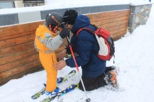 mise en skis