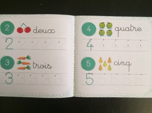 cahier activité montessori chiffres